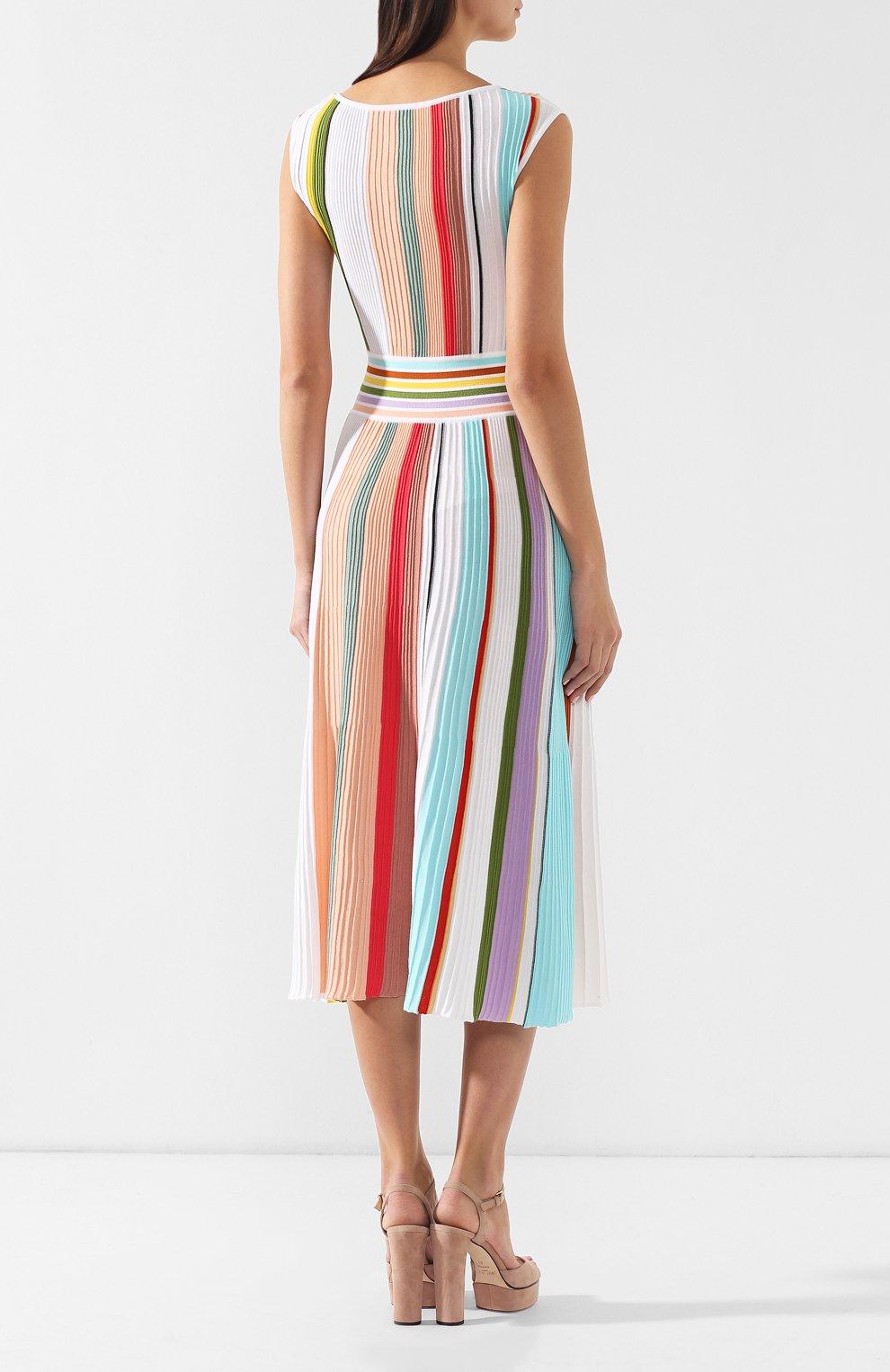 Хлопковое платье Missoni разноцветное | Фото №4