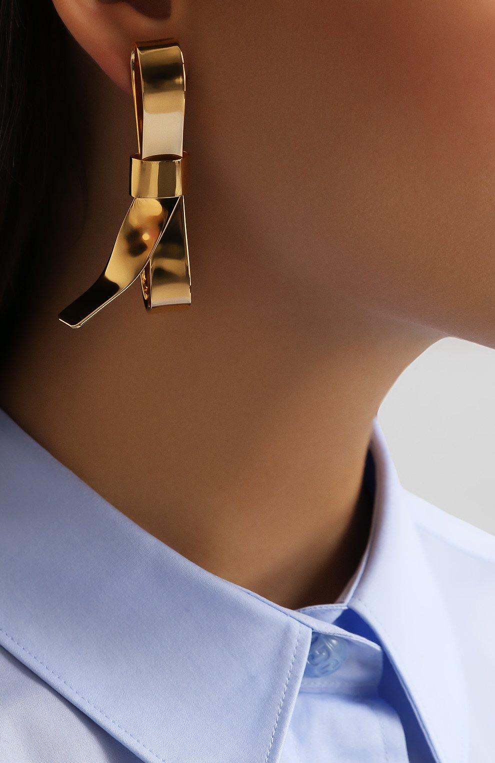 Серьги с подвесками Marni золотые | Фото №2