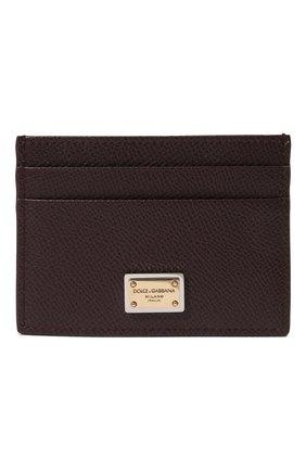 Женский кожаный футляр для кредитных карт DOLCE & GABBANA бордового цвета, арт. BI0330/A1001 | Фото 1