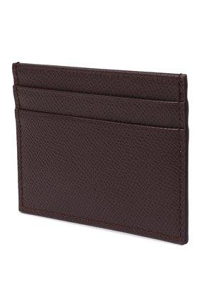 Женский кожаный футляр для кредитных карт DOLCE & GABBANA бордового цвета, арт. BI0330/A1001 | Фото 2