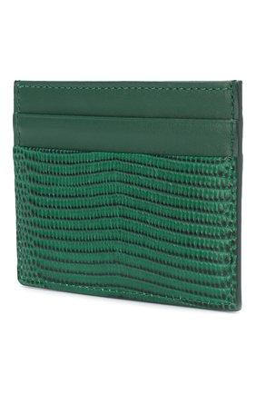 Женский кожаный футляр для кредитных карт DOLCE & GABBANA зеленого цвета, арт. BI0330/AU772 | Фото 2