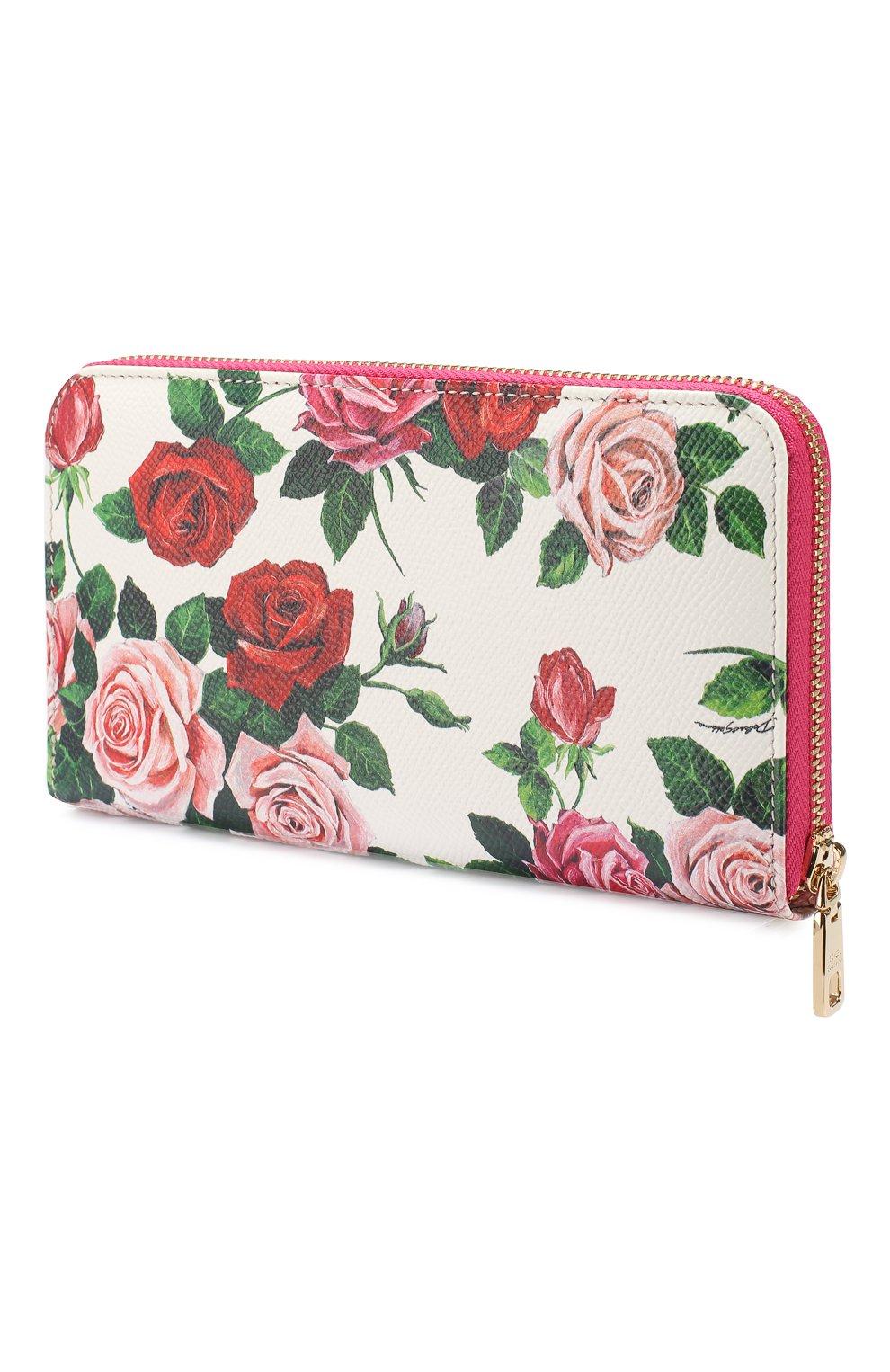 Кожаное портмоне Dolce & Gabbana разноцветного цвета | Фото №2