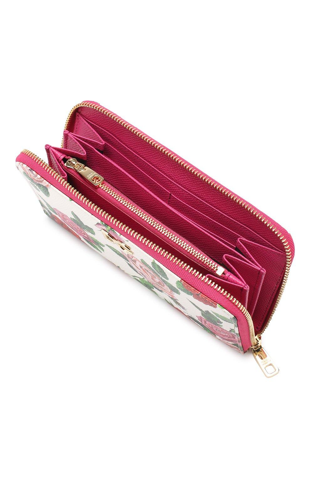 Кожаное портмоне Dolce & Gabbana разноцветного цвета | Фото №3