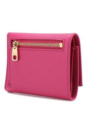 Кожаное портмоне Dolce & Gabbana розового цвета | Фото №2