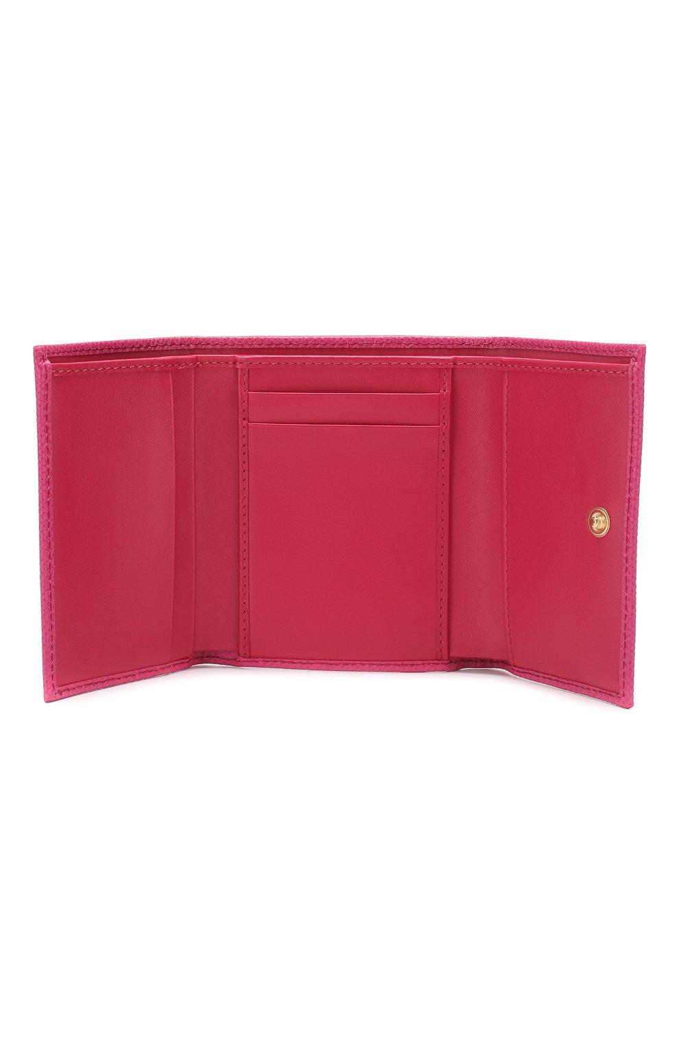 Кожаное портмоне Dolce & Gabbana розового цвета | Фото №3