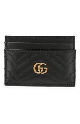 Женский кожаный футляр для кредитных карт  GUCCI черного цвета, арт. 443127/DTD1T | Фото 1
