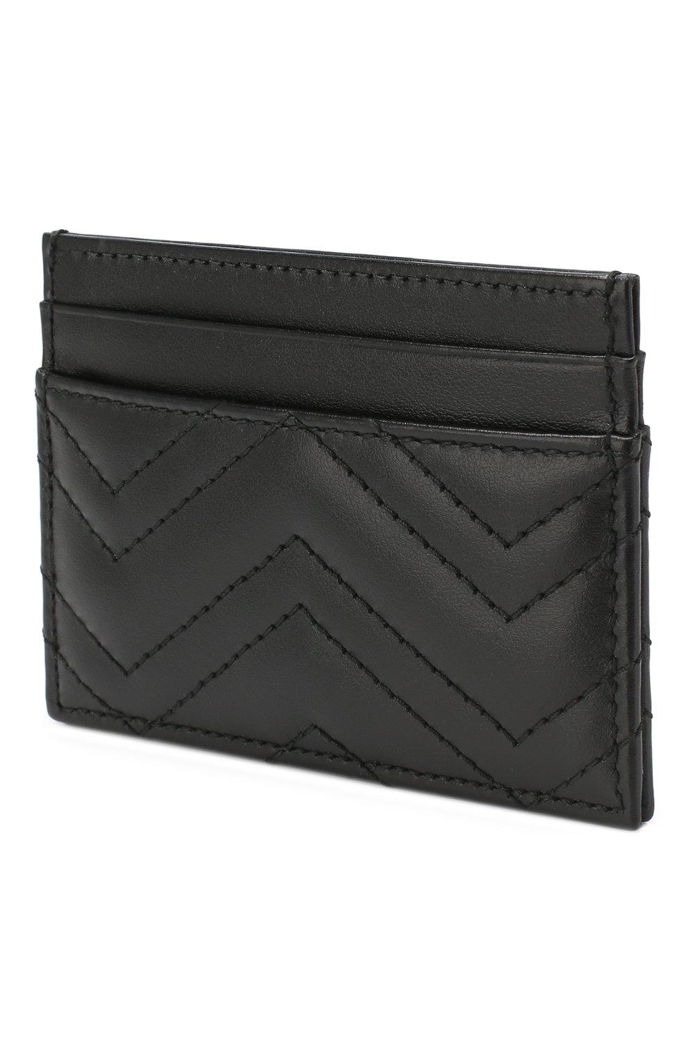 Кожаный футляр для кредитных карт  Gucci черного цвета   Фото №2
