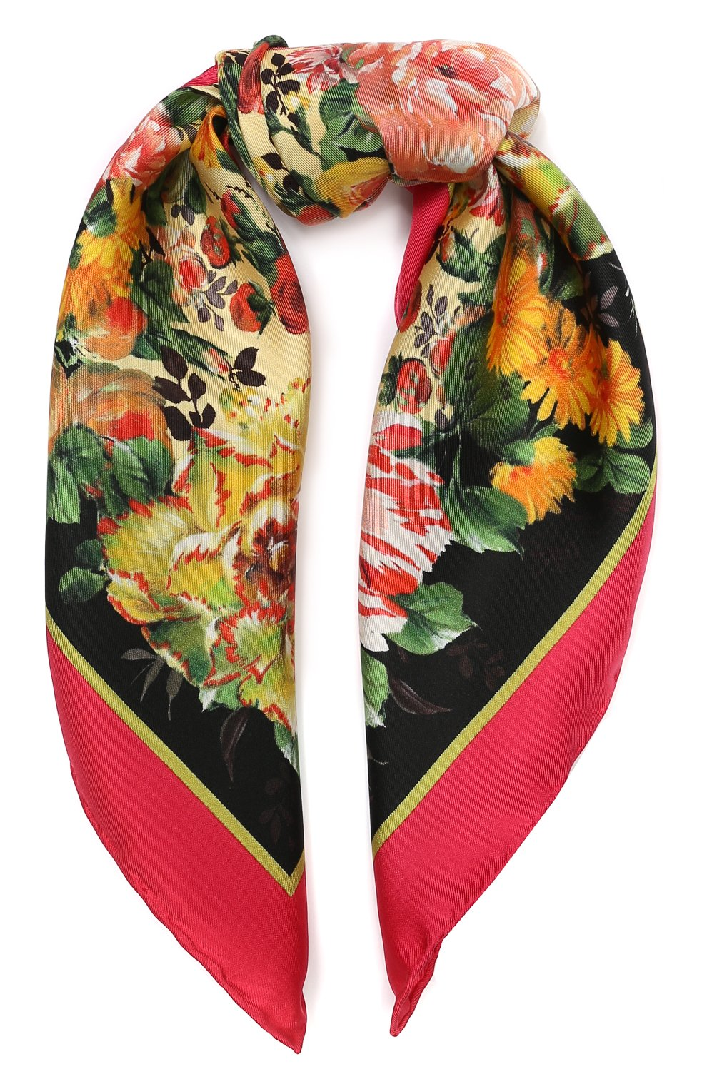 Шелковый платок Dolce & Gabbana разноцветный | Фото №1
