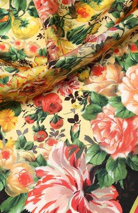 Шелковый платок Dolce & Gabbana разноцветный | Фото №2