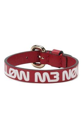 Женский кожаный браслет REDVALENTINO красного цвета, арт. RQ2J0A39/RLW | Фото 1
