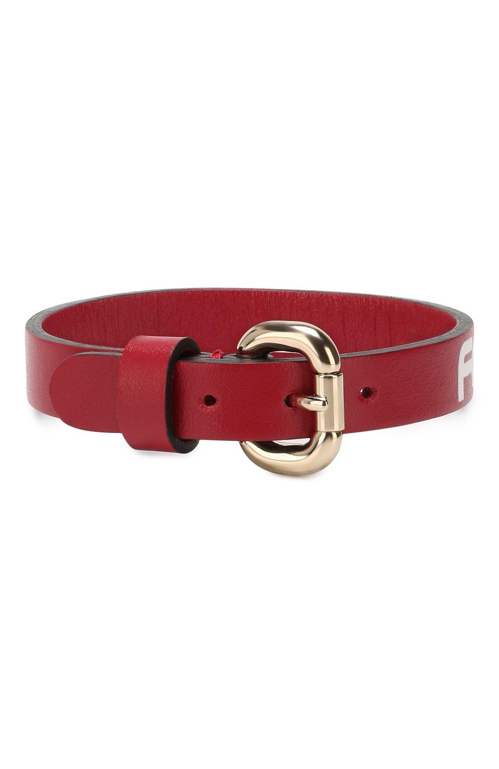 Кожаный браслет REDVALENTINO красный | Фото №2