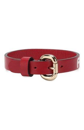 Женский кожаный браслет REDVALENTINO красного цвета, арт. RQ2J0A39/RLW | Фото 2