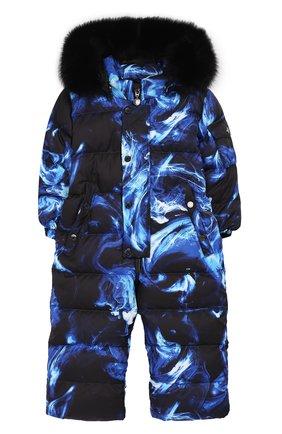 Детский пуховый комбинезон голубой дым CHEPE голубого цвета, арт. 391398 | Фото 1
