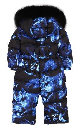 Детский пуховый комбинезон голубой дым CHEPE голубого цвета, арт. 391398 | Фото 2