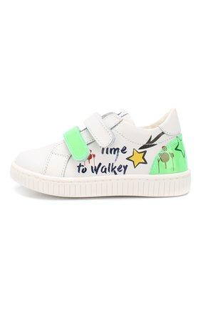 Детские кожаные кеды WALKEY зеленого цвета, арт. Y1B4-40205-0575 | Фото 2