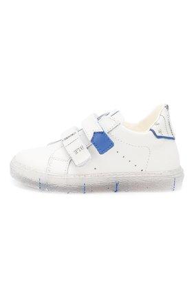 Детские кожаные кеды WALKEY белого цвета, арт. Y1B4-40217-0051 | Фото 2