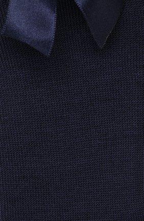 Детские хлопковые гольфы LA PERLA темно-синего цвета, арт. 42452/1-2 | Фото 2