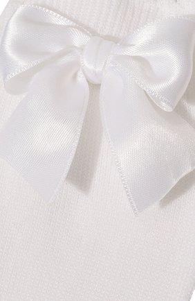 Детские хлопковые гольфы LA PERLA белого цвета, арт. 42452/1-2 | Фото 2