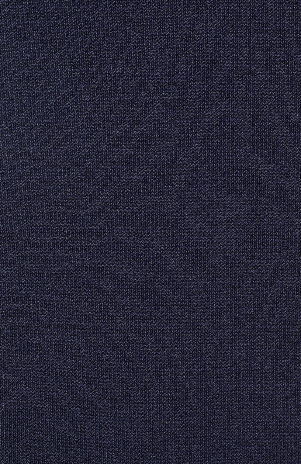 Детские хлопковые гольфы La Perla темно-синего цвета | Фото №2