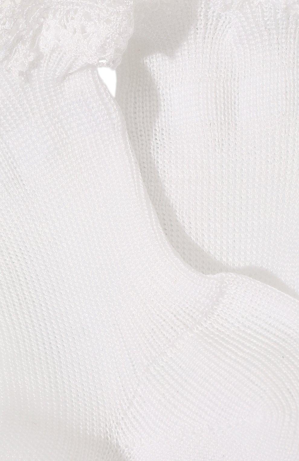 Детские хлопковые носки LA PERLA белого цвета, арт. 43455/1-3 | Фото 2