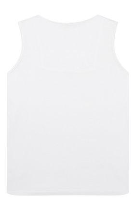 Детская майка с кружевной отделкой LA PERLA белого цвета, арт. 44725/8A-14A | Фото 2