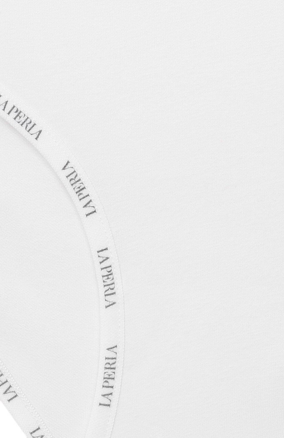 Детские хлопковые трусы LA PERLA белого цвета, арт. 51327/2A-6A | Фото 3
