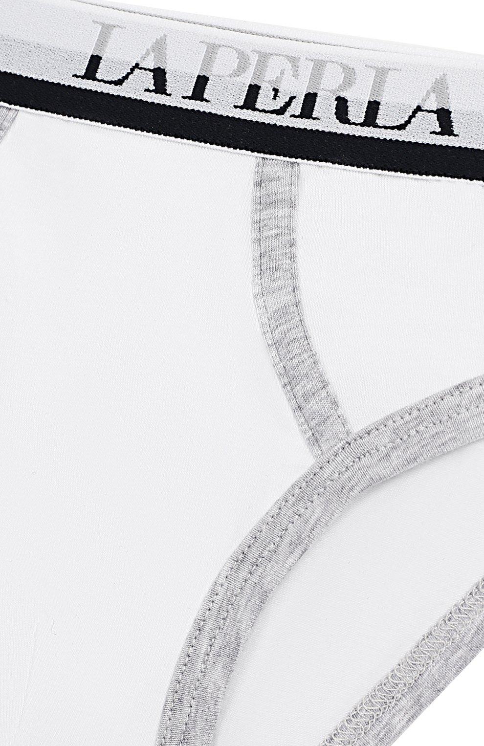 Детские хлопковые брифы LA PERLA белого цвета, арт. 54058/2A-6A | Фото 3
