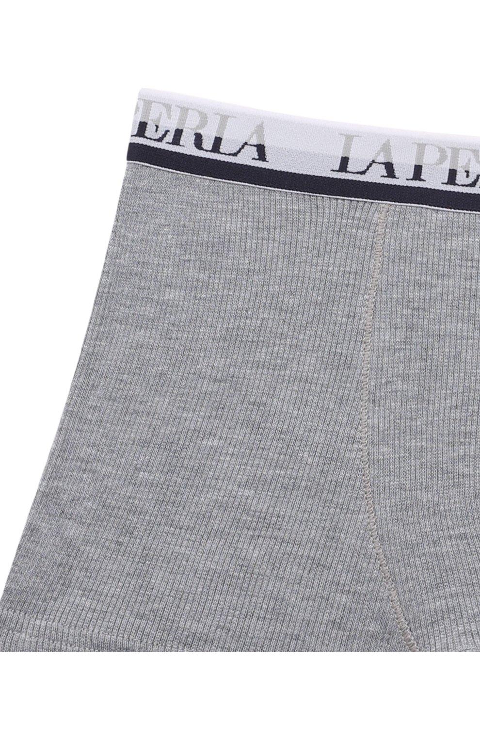 Детские боксеры из вискозы LA PERLA серого цвета, арт. 54388/2A-6A | Фото 3
