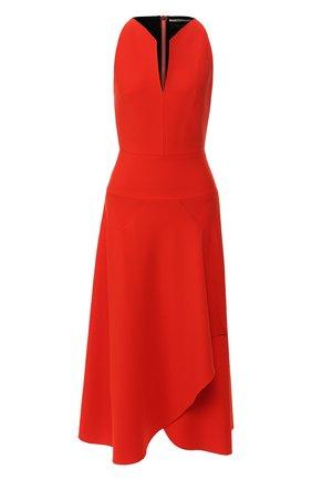 Платье-миди с оборкой | Фото №1