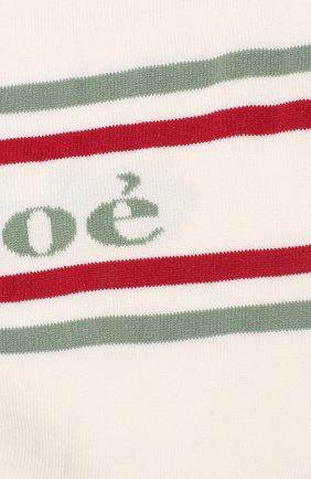 Женские носки с логотипом бренда CHLOÉ белого цвета, арт. CHC19SCU01910 | Фото 2