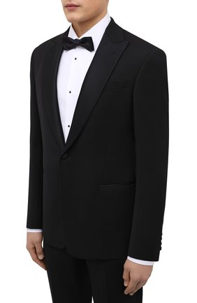 Мужской шерстяной смокинг GIORGIO ARMANI черного цвета, арт. 8WGAS001/T0075 | Фото 2