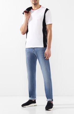 Мужская хлопковая футболка Z ZEGNA белого цвета, арт. VS372/ZZB606   Фото 2