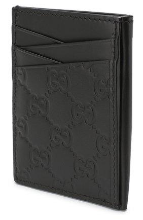 Мужской кожаный футляр для кредитных карт GUCCI черного цвета, арт. 495015/CWC1R | Фото 2