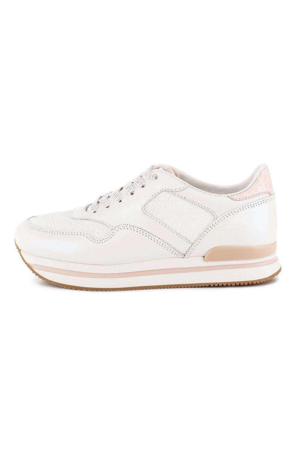 Комбинированные кроссовки Hogan белые   Фото №3