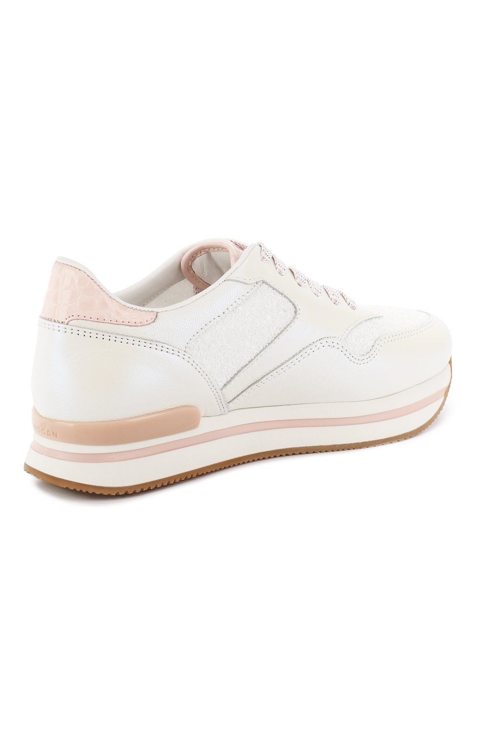 Комбинированные кроссовки Hogan белые   Фото №4