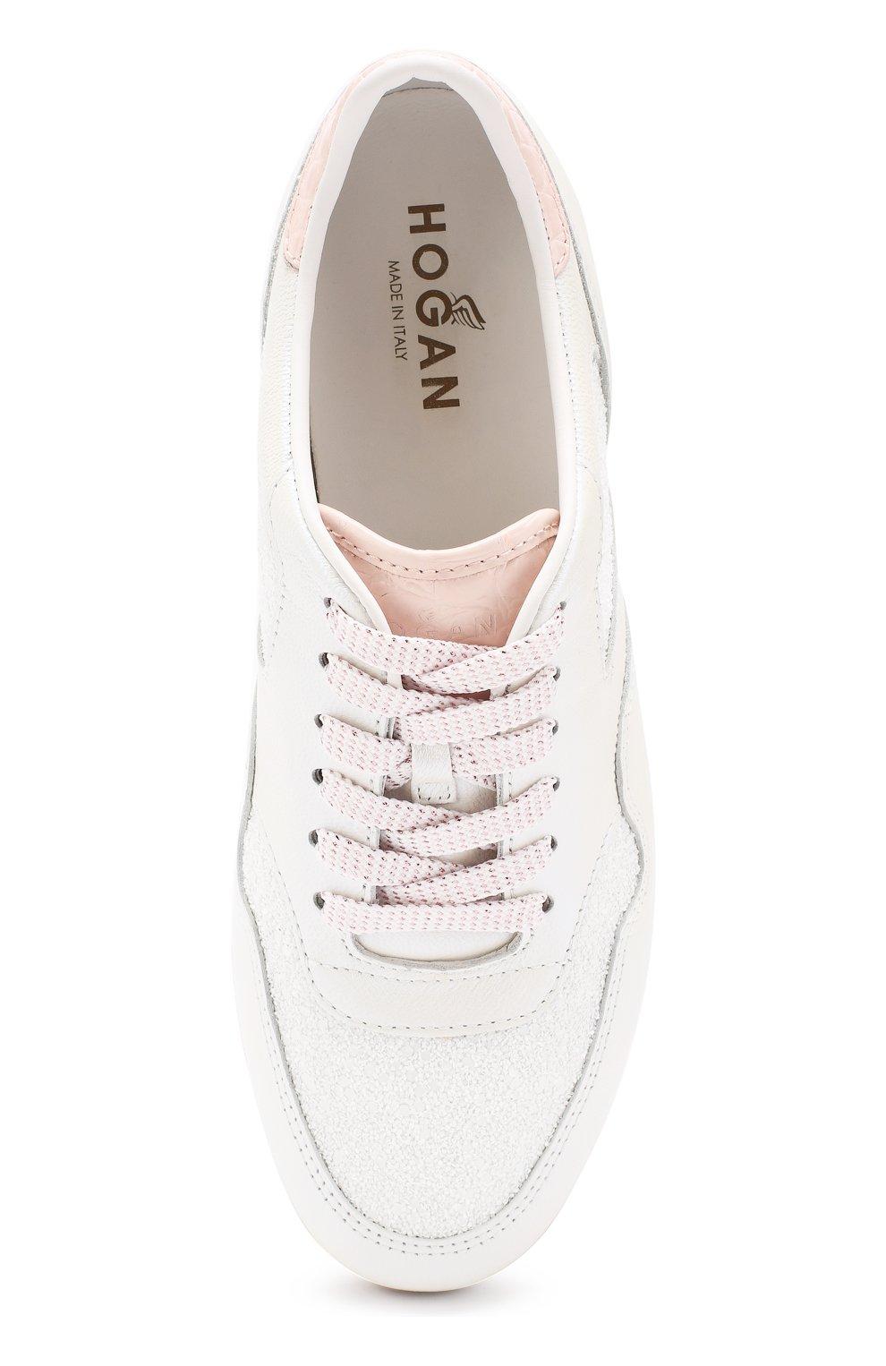 Комбинированные кроссовки Hogan белые   Фото №5