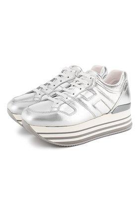 Кроссовки из металлизированной кожи | Фото №1