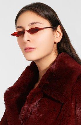Солнцезащитные очки Roberi & Fraud красные | Фото №2