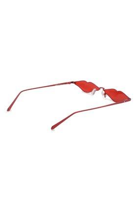 Солнцезащитные очки Roberi & Fraud красные | Фото №3