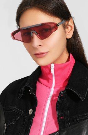 Женские солнцезащитные очки SPEKTRE бордового цвета, арт. VINCENT 04AFT | Фото 2 (Статус проверки: Проверена категория, Требуются правки; Тип очков: С/з; Очки форма: Маска, D-форма; Оптика Гендер: оптика-унисекс)