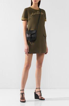 Женская сумка datcha small  SAINT LAURENT черного цвета, арт. 551559/01I0J   Фото 2