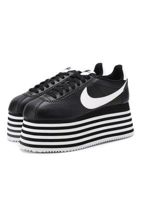 Кожаные кеды Cortez Comme des Garcons x Nike | Фото №1