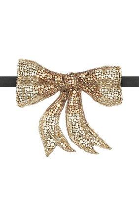 Шелковый галстук-бабочка с отделкой кристаллами Swarovski | Фото №1