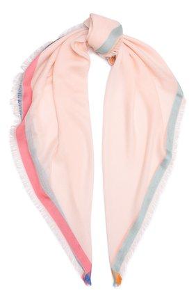 Женский платок quadrata rainbow из кашемира и шелка LORO PIANA светло-розового цвета, арт. FAE7233 | Фото 1