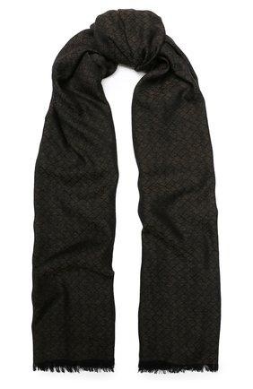 Мужской шарф из смеси шерсти и шелка с кашемиром BOTTEGA VENETA зеленого цвета, арт. 498176/4V708 | Фото 1