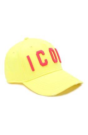 Мужской хлопковая бейсболка DSQUARED2 желтого цвета, арт. BCM4001 05C00001 | Фото 1