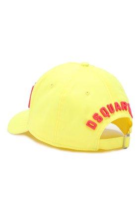 Мужской хлопковая бейсболка DSQUARED2 желтого цвета, арт. BCM4001 05C00001 | Фото 2