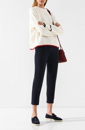 Женские джинсы LORO PIANA темно-синего цвета, арт. FAI5089 | Фото 2