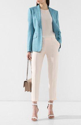 Женские брюки из смеси шелка и шерсти LORO PIANA розового цвета, арт. FAI5260   Фото 2