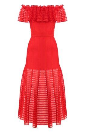 Приталенное платье-миди | Фото №1